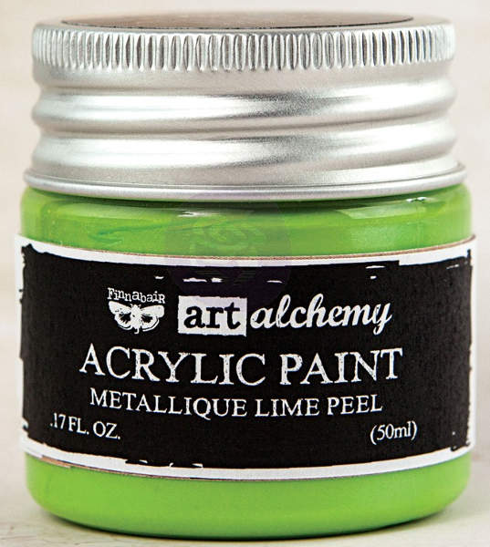 Art Alchemy Acrylic Paint - Metallique Lime Peel - Prima