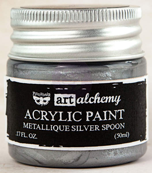 Art Alchemy Acrylic Paint - Metallique Silver Spoon - Prima