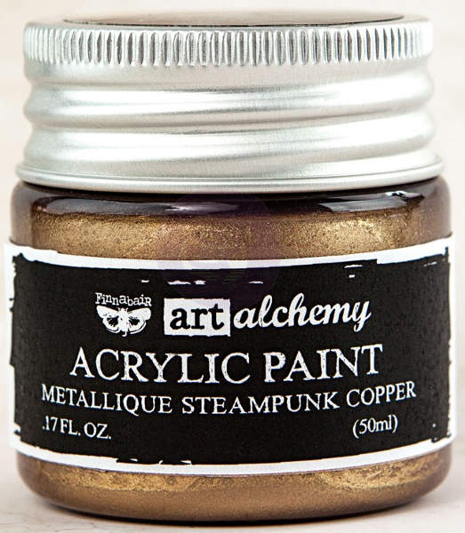 Art Alchemy Acrylic Paint - Metallique Steampunk Copper - Prima