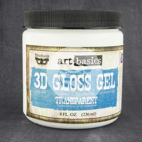 Art Basics - 3D Gloss Gel - Transparent by Finnabair - Prima