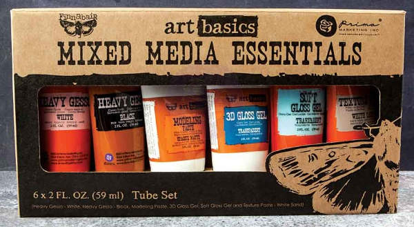 Art Basics - Mixed Media Essentials 6 - 2oz Tubes by Finnabair - Prima