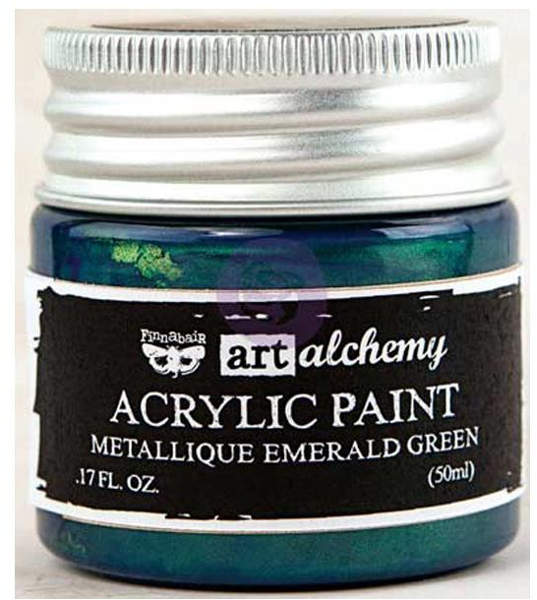 Art Alchemy Acrylic Paint - Metallique Emerald Green - Prima