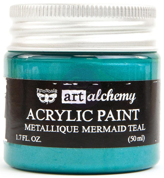 Art Alchemy Acrylic Paint - Metallique Mermaid Teal - Prima