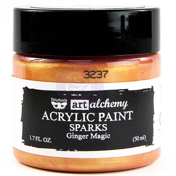 Art Alchemy Acrylic Paint - Sparks Ginger Magic - Prima