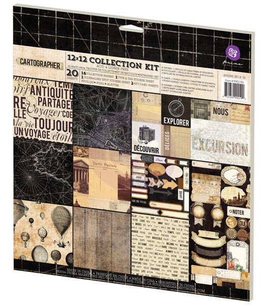 Cartographer - 12x12 - Collection Kit - Prima