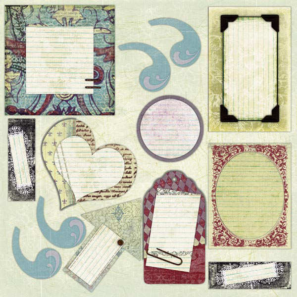 Chipboard Journal Elements - Cavalier - Prima