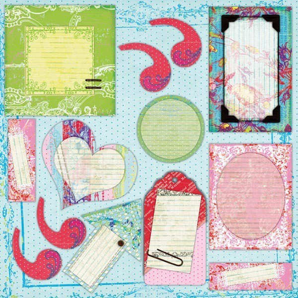Chipboard Journal Elements - Morning Song - Prima