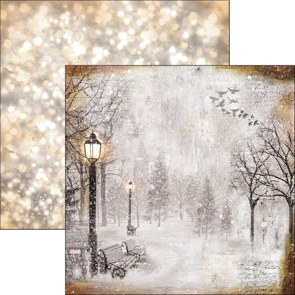 Ciao Bella Snow and the City - First Fall of Snow 12x12 Paper - Ciao Bella
