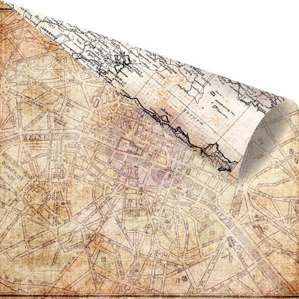 Cartographer -  Marveilleux - 12x12 Double-sided Paper - Prima