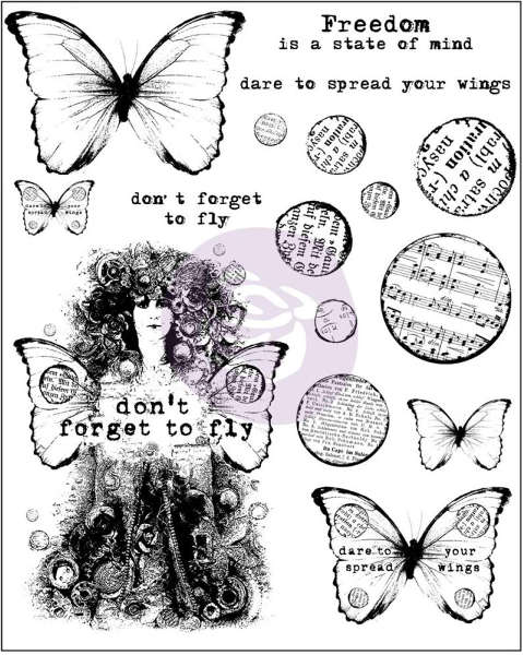 Finnabair - Cling Stamps - Dont Forget To Fly - Prima