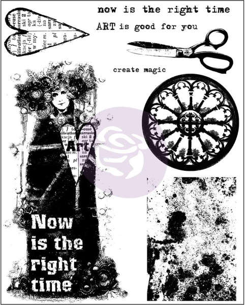 Finnabair - Cling Stamps - Now Is The Right Time - Prima