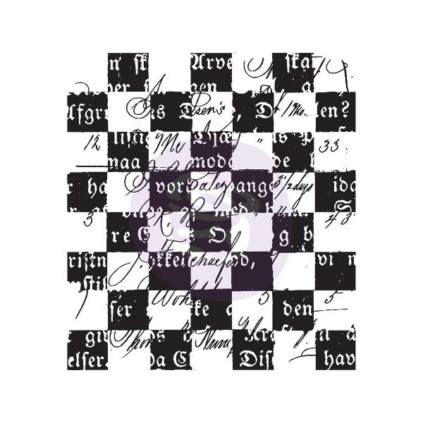 Finnabair - Clear Stamps - Checker Texts - Prima
