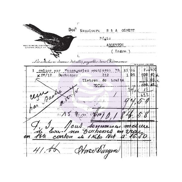 Finnabair - Clear Stamps - Old Receipt - Prima