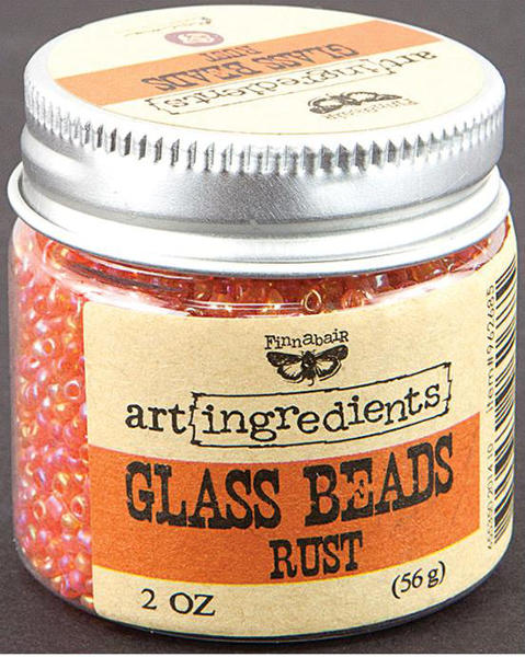 Art Ingredients Glass Beads -  Rust by Finnabair - Prima