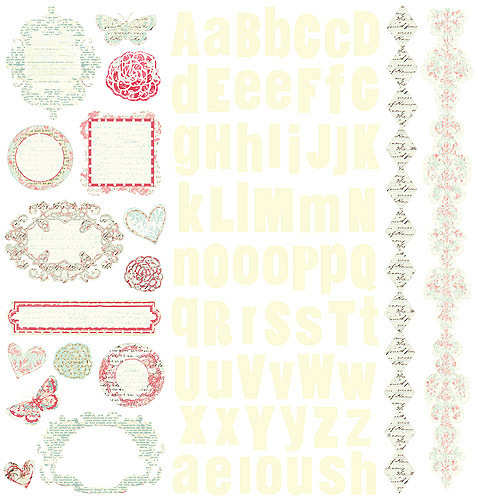Cardstock Stickers - Shabby Chic - Prima