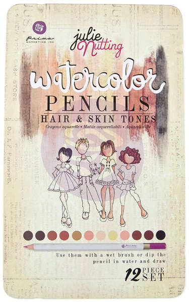 Watercolor Pencils - Julie Nutting - Hair & Skin Tones - Prima