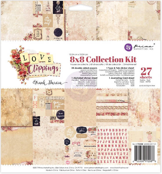 Love Clippings -  8x8 Collection Kit - Prima