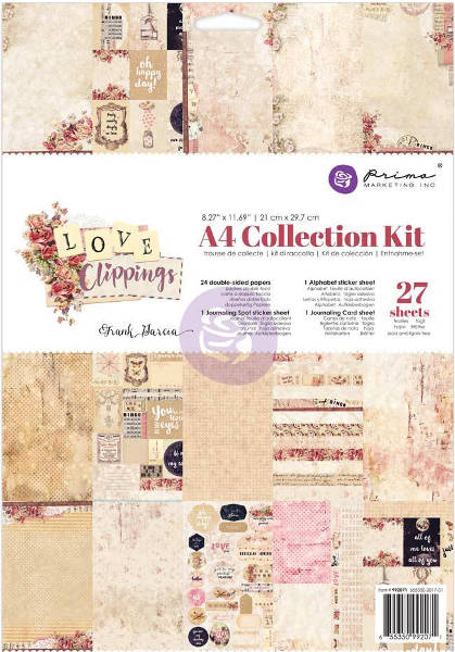 Love Clippings -  A4 Collection Kit - Prima