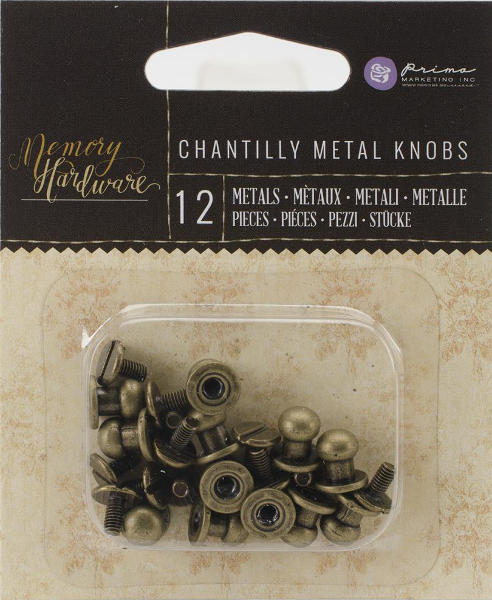 Memory Hardware - Chantilly Metal Knobs - Frank Garcia - Prima