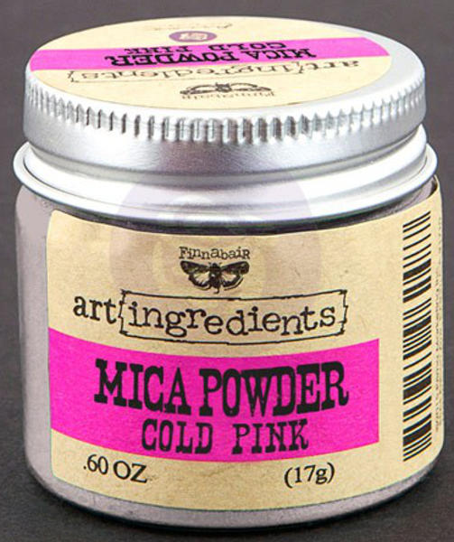 Art Ingredients Mica Powder -  Pewter - Cold Pink by Finnabair - Prima