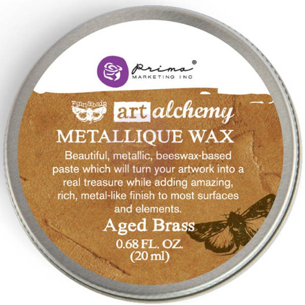 Art Alchemy Wax - Metallique Aged Brass - Prima