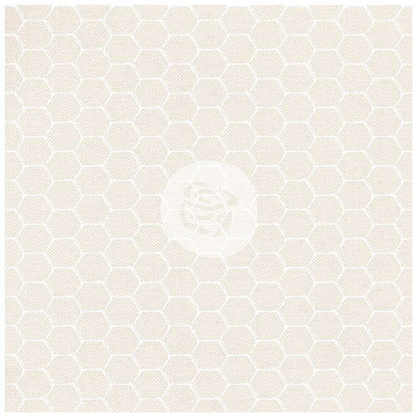 Finnabair Elementals - 12x12 White Resist Canvas - Honeycomb - Prima