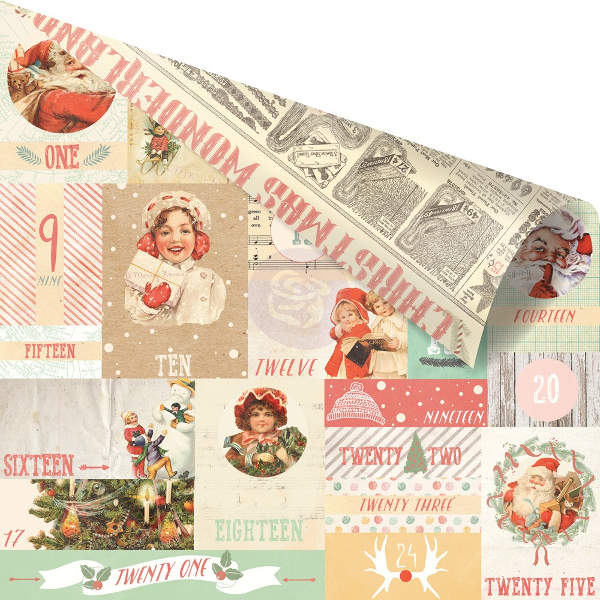 Sweet Peppermint   Countdown To Christmas - 12x12 Double-sided Paper - Prima