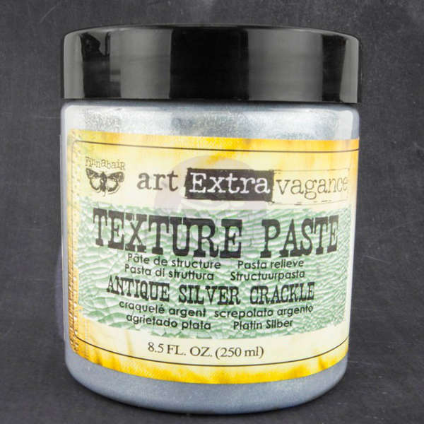 Art Extravagance - Texture Paste - Antique Silver Crackle by Finnabair - Prima