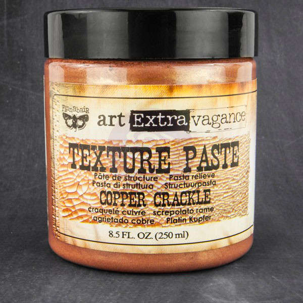 Art Extravagance - Texture Paste - Copper Crackle by Finnabair - Prima