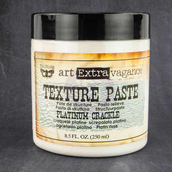 Art Extravagance - Texture Paste - Platinum Crackle by Finnabair - Prima