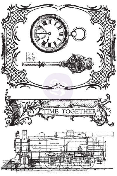 Time Traveler's Memories - Cling Stamps - Prima