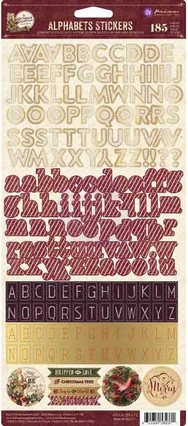 A Victorian Christmas  Alphabets Stickers - Prima