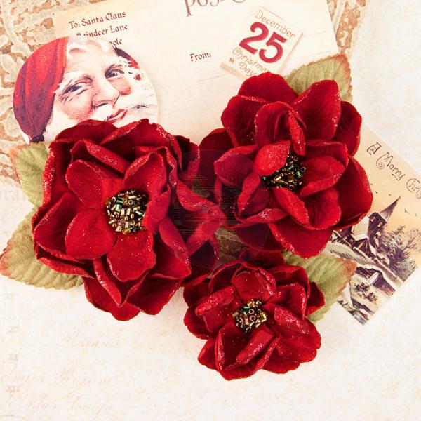 A Victorian Christmas Flowers - Peace & Holly - Prima