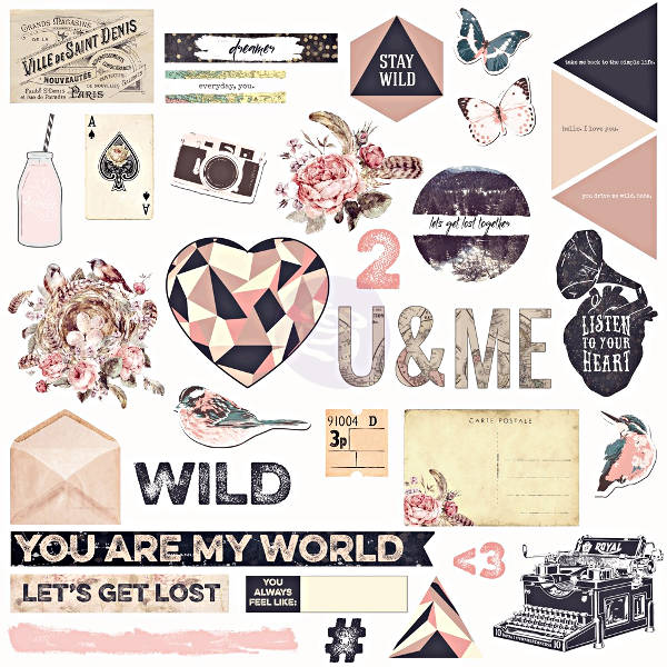 Wild & Free - Chipboard & More - Prima-1