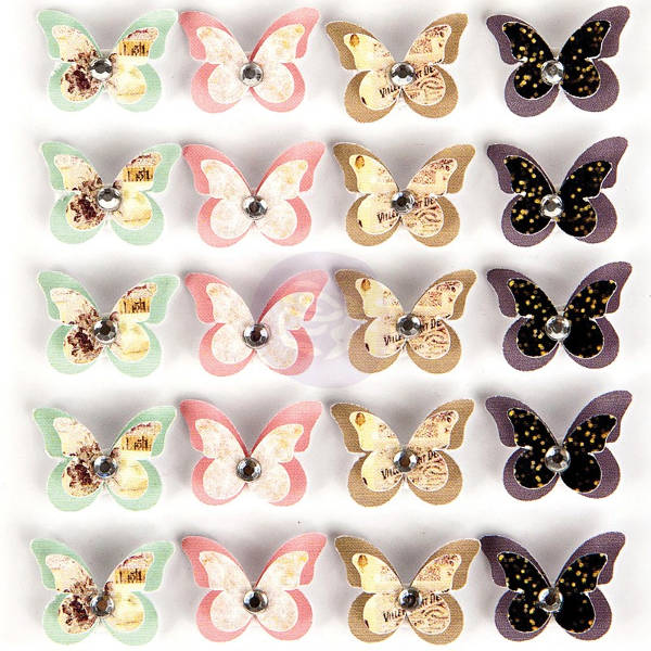 Wild & Free - Dimensional Butterflies With Gems Celestial - Prima