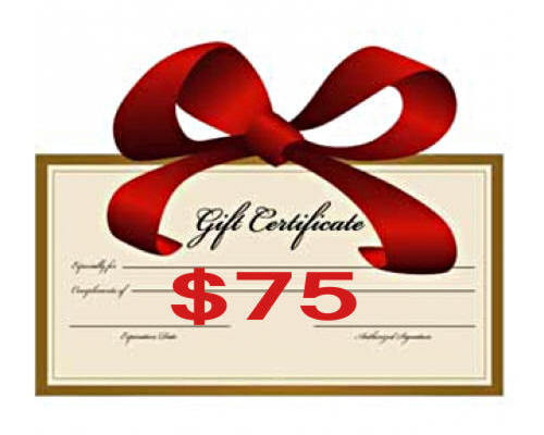 $75 Gift Certificate - Creative Inspirations