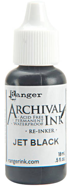 Archival Ink  Reinkers - Jet Black - Ranger