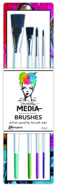 Dina Wakley Media Brushes - 4 Piece Set - Ranger