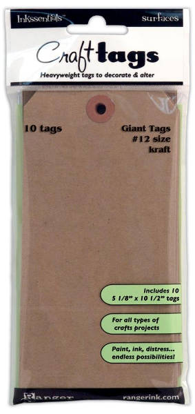 Surfaces #12 Kraft Craft Tags - Ranger