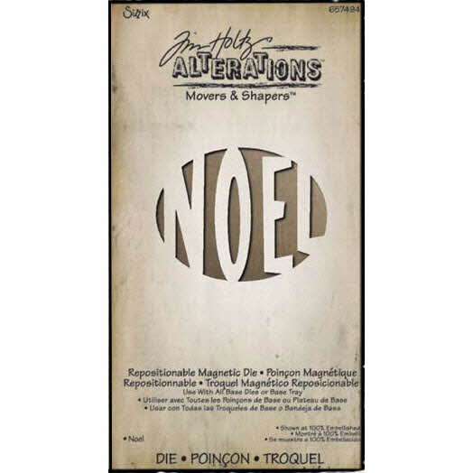 Movers & Shapers - Alterations Magnetic Word Die - Noel - Tim Holtz - Sizzix