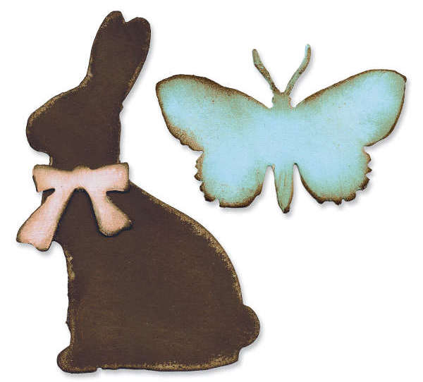 Bigz Die - Alterations Easter Elements - Tim Holtz - Sizzix