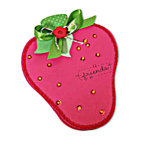 Bigz XL Die - Card Strawberry & Leaf - Sizzix