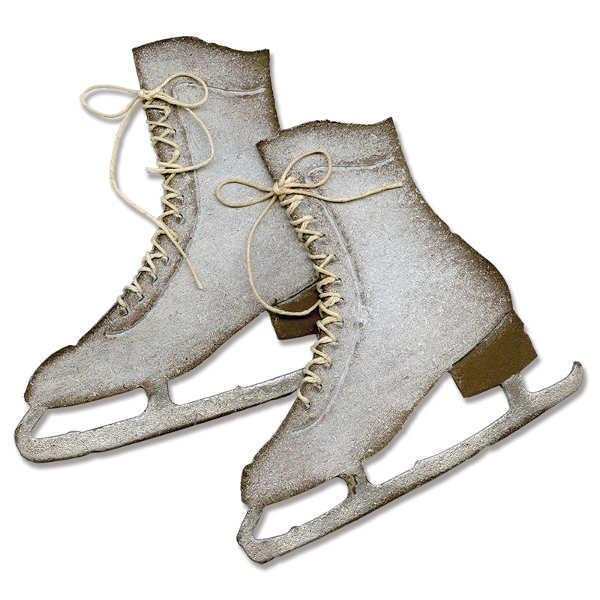 Bigz Die - Alterations Ice Skates - Tim Holtz - Sizzix