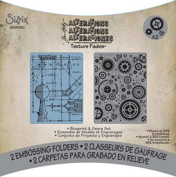Tim Holtz Gears Texture Fades Embossing Folder