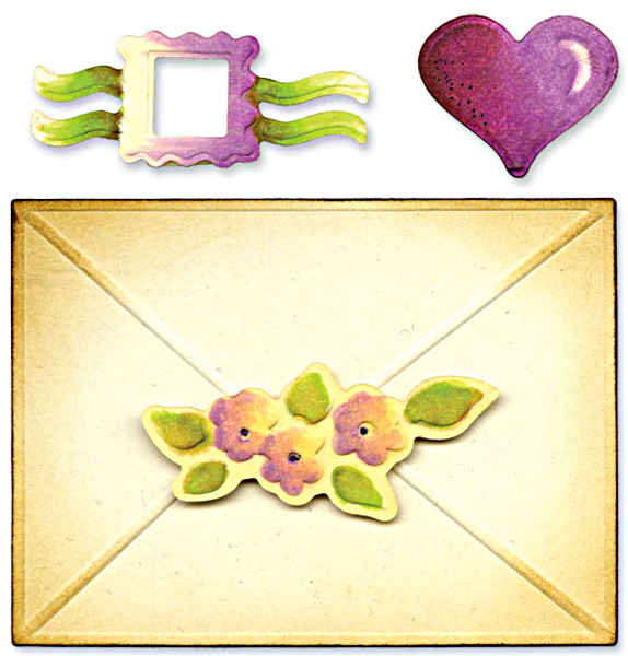 Embosslits XL Die - Envelope & Seals Set - Sizzix