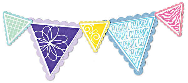 Framelits Die Set w/Stamp - 6pc Pennant & Banners Set - Sizzix