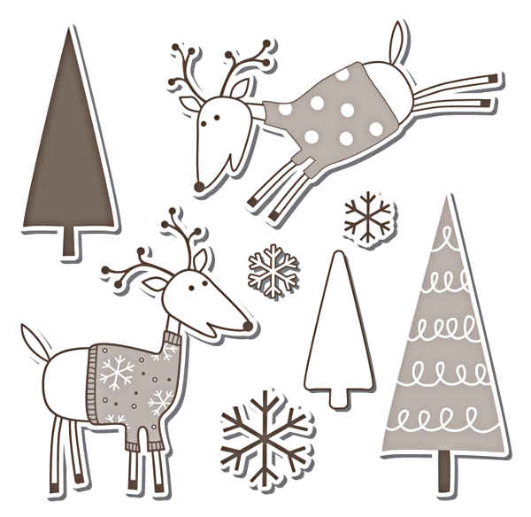 Framelits Die Set w/Stamp - 7pc Reindeer Set - Sizzix
