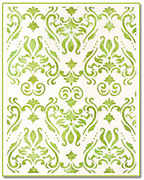 Ink-its LetterPress Plate - Damask, by Rachael Bright - Sizzix