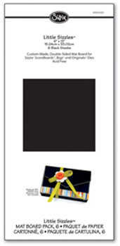 Little Sizzles - Mat Board Pack Black - Sizzix