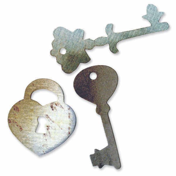Originals Die - Heart, Lock & Keys, by Rachael Bright - Sizzix